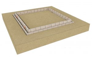 Foundation walls built to the desired height