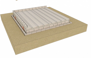 Walls are built directly off floor