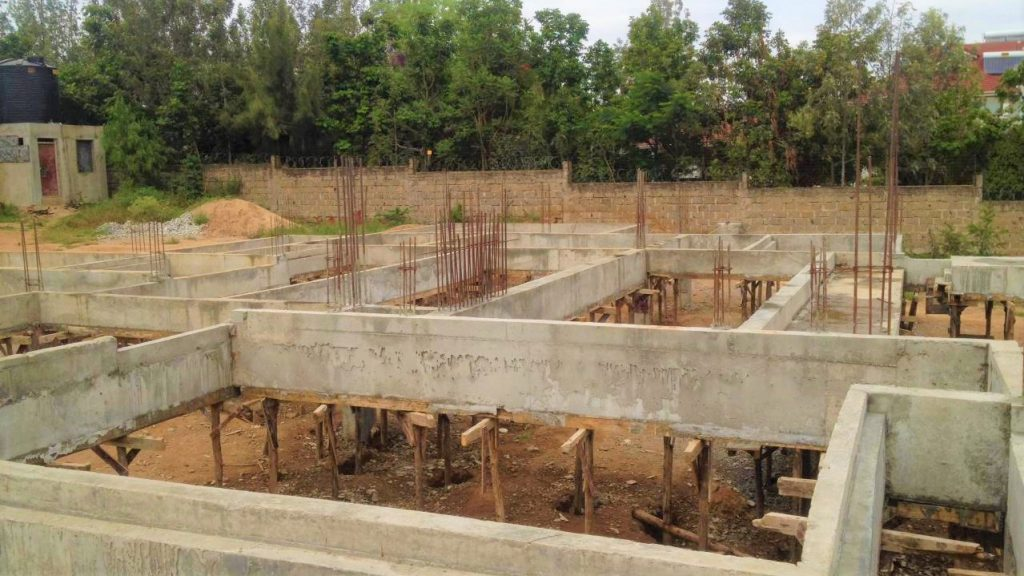 A reinforced concrete Column and ring beam foundation