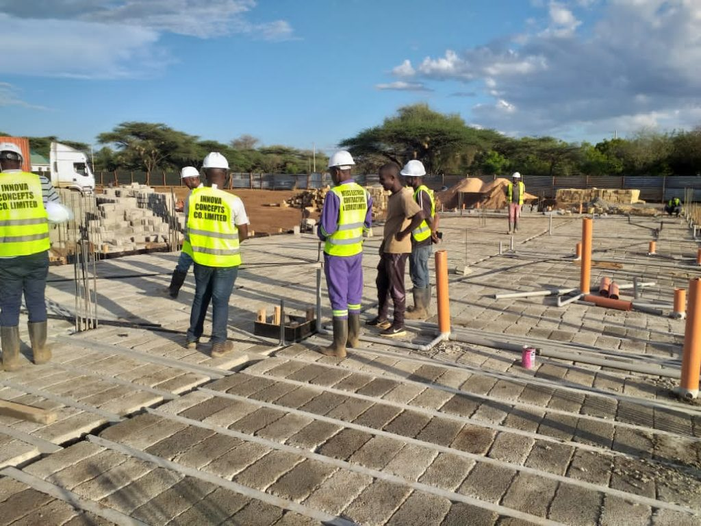 Isiolo Beam and block slab installation